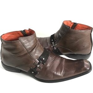 "Robert Wayne ""Rocky"" Brown Ankle Rock Boots Sz 13"